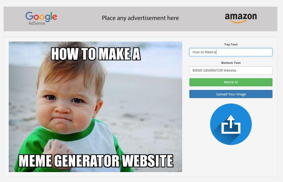 How to make a meme generator website