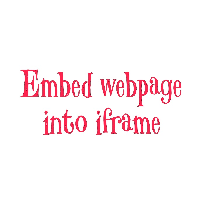 How to embed web page into iframe