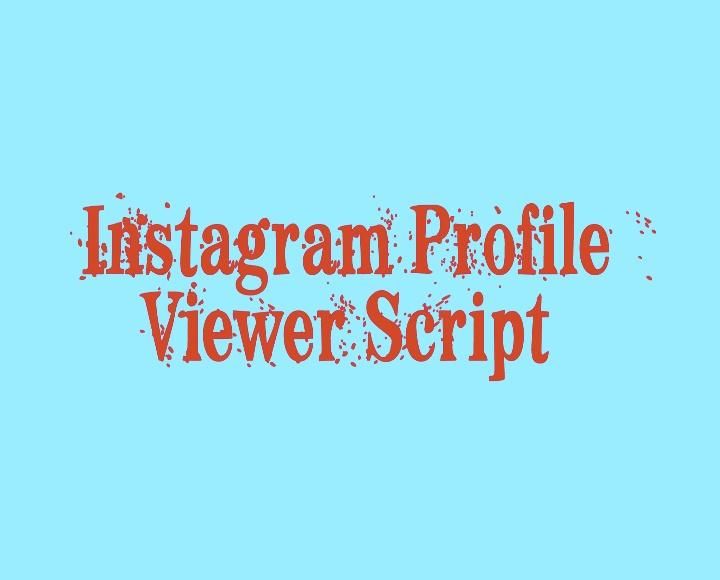 instagram viewer script