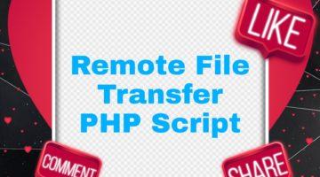 PHP file Transfer Script