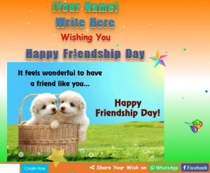 Friendship day wish script