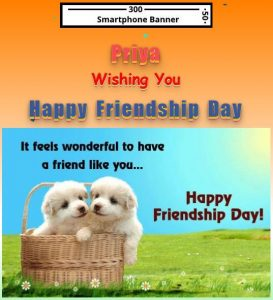Happy Friendship Day wish with name