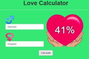 Love calculator result